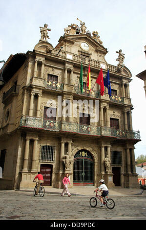 Town Hall. Pamplona. Spain - Stock Photo