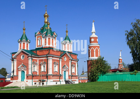 The Cathedral of the Exaltation of the Holy Cross (1858) at Brusensky Monastery in the Kremlin of Kolomna, Russia - Stock Photo