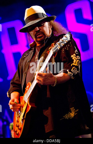 Vigevano Italy. 13th June 2012. The LYNYRD SKYNYRD performs live at Castello Sforzesco during '10 Giorni Suonati - Stock Photo