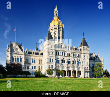 Connecticut State Capitol in Hartford, Connecticut. - Stock Photo