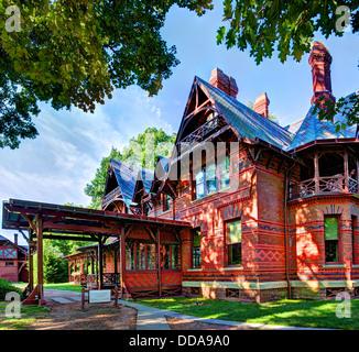 Mark Twain House in Hartford, Connecticut. - Stock Photo