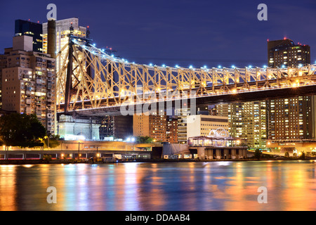 Queensboro Bridge in New York City. - Stock Photo