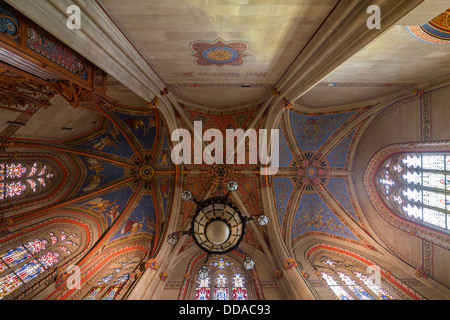vaulting, Chapelle des Macchabées, (Chapel of the Maccabees), St. Pierre Cathedral, Geneva, Switzerland - Stock Photo