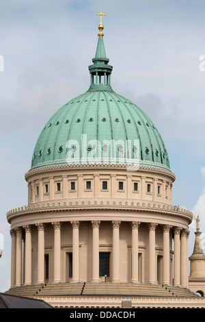 St. Nicholas' Church (German: St. Nikolaikirche) in Potsdam, Germany - Stock Photo