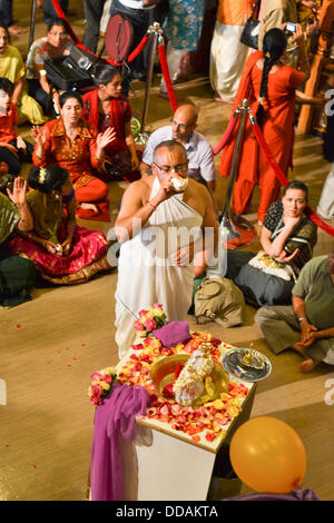Toronto, Canada. 28th Aug, 2013. Janmashtami Celebrations at ISKCON Toronto © Nisarg Photography/Alamy Live News - Stock Photo