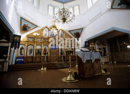 Orthodox church. Karakol. Kyrgyzstan. - Stock Photo