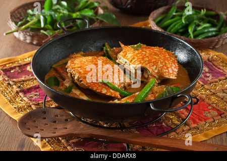 Chettinad crab curry India Food - Stock Photo