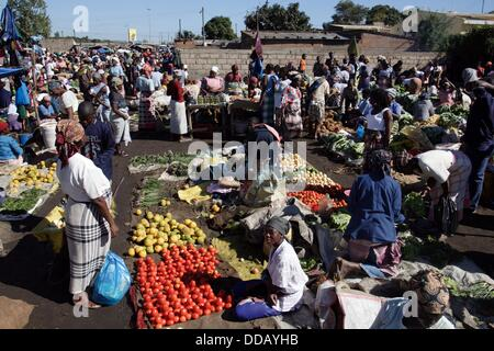 Street market in Maputo, Mozambique - Stock Photo