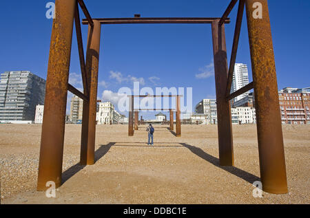 West Pier, Brighton, East Sussex, England - Stock Photo