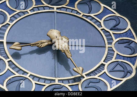 The Ankeruhr Anchor Clock face in Vienna Austria - Stock Photo