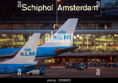 Amsterdam Netherlands The Klm Aircraft Outside The