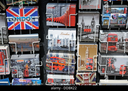 London, England, UK. London postcards on sale - Stock Photo