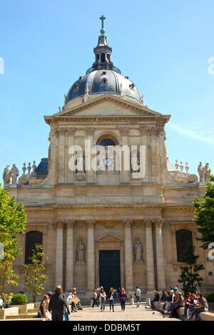 The Sorbonne in Paris, France - Stock Photo