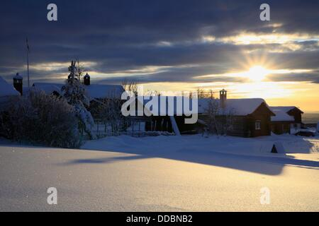 Fryksås, Dalarna, Sweden. Fryksås is a small village with hills farms about 10 km from Orsa which is the closest - Stock Photo