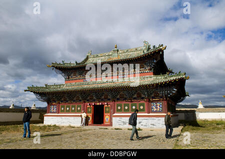 Erdene zuu khiid monastery was the first Buddhist monastery in Mongolia  it was constructed in 1586 by Abrtai Khaan - Stock Photo