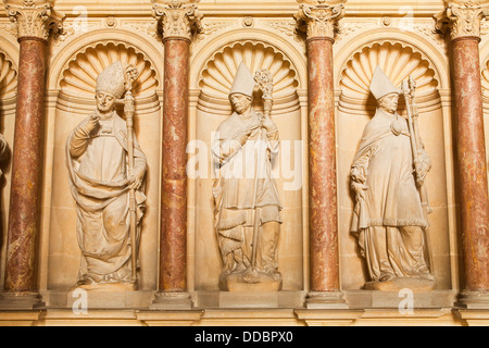 The tomb of Saint Remi inside Saint Remi basilica, Reims. - Stock Photo