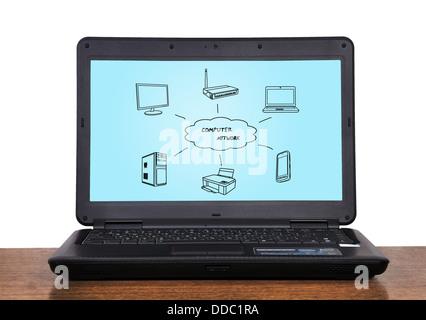 computer network concept - Stock Photo