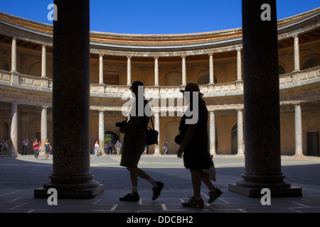 Charles V's palace, Alhambra. Granada, Andalusia. Spain - Stock Photo