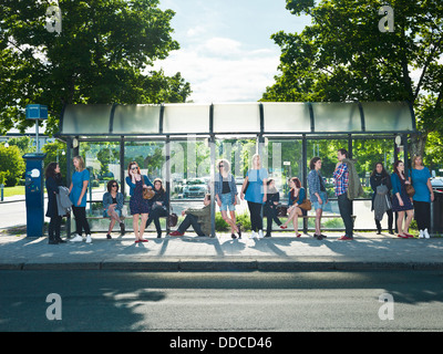 Waiting on the bus - Stock Photo