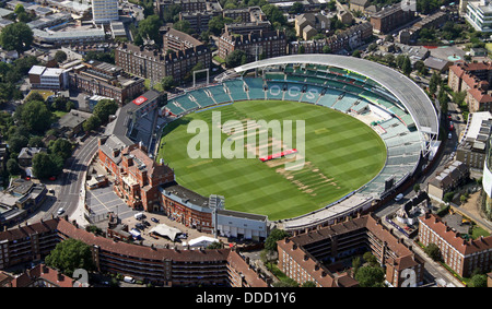 aerial view of The Oval Cricket Ground in Kennington, London SE17 - Stock Photo