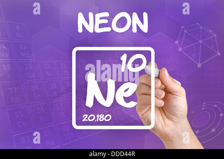 Neon Chemical Element Periodic Table Science Symbol Stock Photo