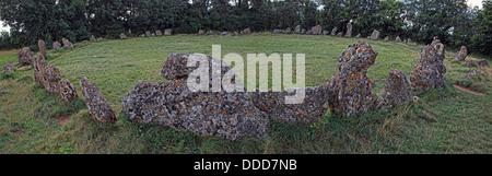 Roll Right Stones / Rollright Stones, neolithic monument, Long Compton, Warwickshire / Great Rollright, Chipping - Stock Photo