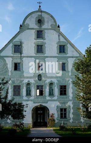 Germany, Upper Bavaria, Benediktbeuern, Monastery - Stock Photo
