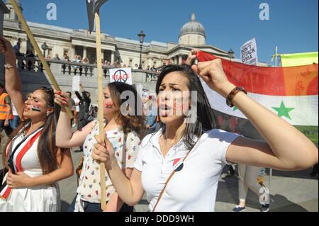 Trafalgar Square, London, UK . 31st Aug, 2013.  Credit:  JOHNNY ARMSTEAD/Alamy Live News - Stock Photo
