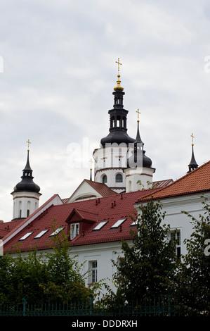 Orthodox monastery complex in Suprasl in north-eastern Poland. - Stock Photo