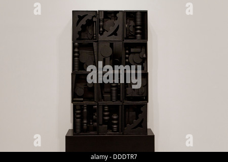 'Black Wall' by Louise Nevelson, 1964 - Stock Photo