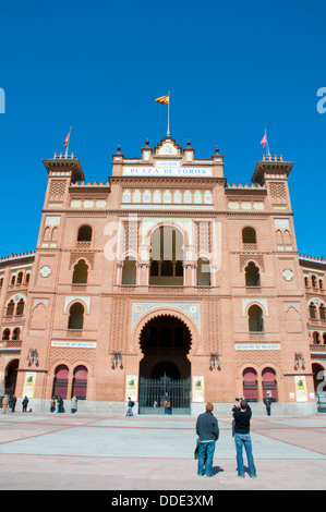Main facade. Las Ventas bullring, Madrid, Spain. - Stock Photo