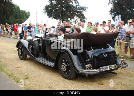 classic Mercedes at Classic Days 2013 at Dyck Castle near Düsseldorf, North Rhine Westphalia, Germany, Europe - Stock Photo