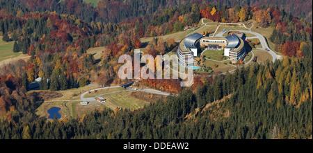 Hotel InterContinental in Wild colors of Autumn in Berchtesgaden - Stock Photo