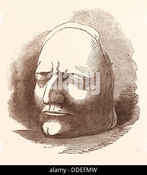 POSTHUMOUS MASK OF SIR ISAAC NEWTON, 25 December 1642 - 20 March 1726, was an English physicist, mathematician, - Stock Photo