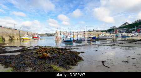 Newquay harbour in Cornwall - Stock Photo