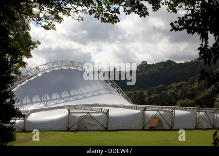 The Royal International pavilion in Llangollen, a multi purpose venue, used for the annual International Musical - Stock Photo