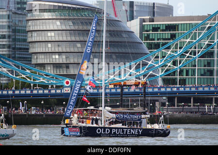 London, UK. 01st Sep, 2013. London is to host the start and finish of the 2013-14 edition of the Clipper Round the - Stock Photo