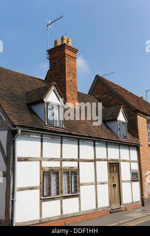 Traditional house, Ely Street, Stratford upon Avon, Warwickshire, England, UK. - Stock Photo