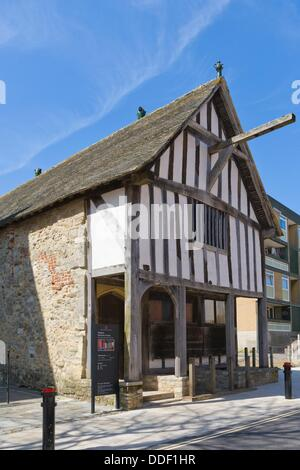 The Medieval Merchants House, French Street, Old Town, Southampton, Hampshire, England, UK. - Stock Photo
