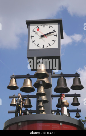 Swiss Glockenspiel clock Leicester Square London