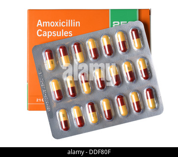 Amoxicillin antibiotic capsules, tablets, pills Stock ...