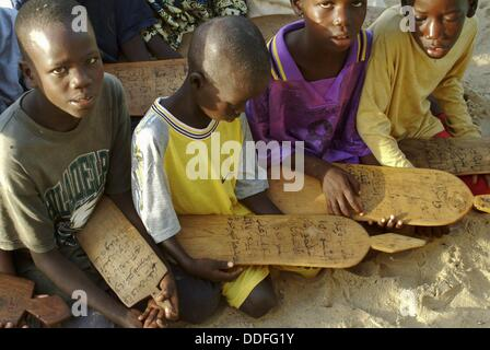 Islamic school, Guet Ndar, Saint-Louis, Senegal - Stock Photo