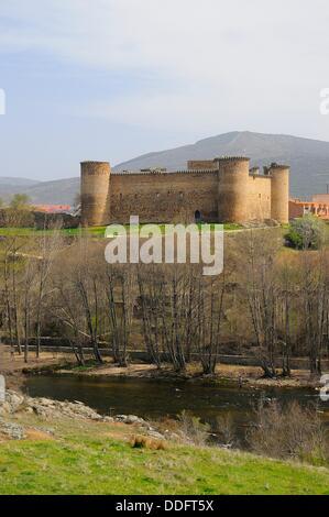 Valdecorneja castle. 14 th century. Barco de Avila. Ávila province. Castilla y León. Spain - Stock Photo