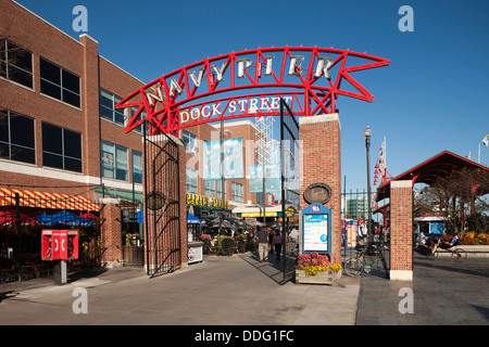 ENTRANCE ARCHWAY NAVY PIER CHICAGO ILLINOIS USA - Stock Photo