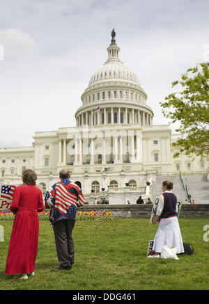 Anti-abortion protest in front of Capitol Building,  Washington D.C., USA - Stock Photo