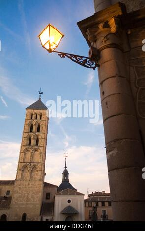 San Esteban Church. Romanesque. Segovia. Castilla-Leon. Spain. - Stock Photo