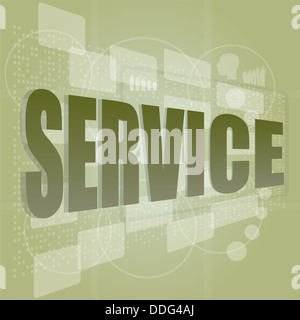 words service on digital screen, business concept - Stock Photo