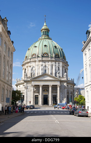 Frederik's Church otherwise known as the Marble Church on Frederiksgade in Copenhagen, Denmark - Stock Photo