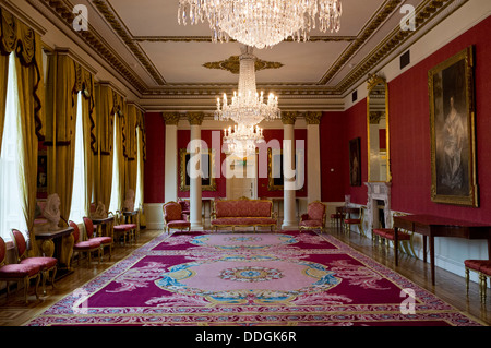 Drawing room in the state apartments, dublin castle, ireland - Stock Photo