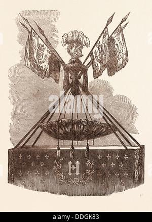 CRADLE OF HENRI IV, BORN AT PAU, DECEMBER 15, 1553 - Stock Photo